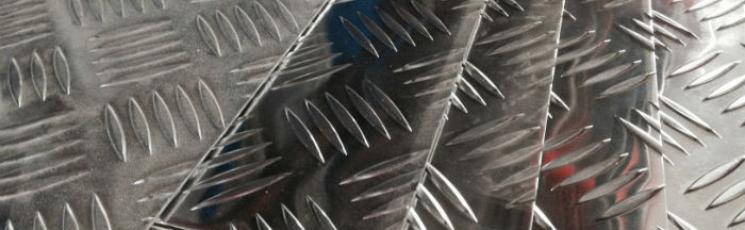Лист алюминиевый рифленый 1,5х1200х3000 АМг2Н2Р квинтет