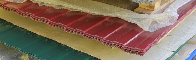 Профлист двусторонний с полимерным покрытием МП20-1100 0,45х1150 для стен и кровли