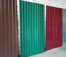 Профлист с полимерным покрытием для стен и заборов