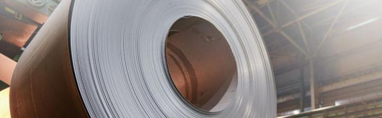 Лист стальной холоднокатанный с полимерным покрытием 0,7 Ст08пс в рулоне